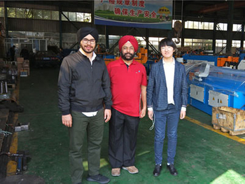 Welcome India clients visit our workshop