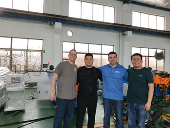 Welcome canada clients inspect our pipe bender