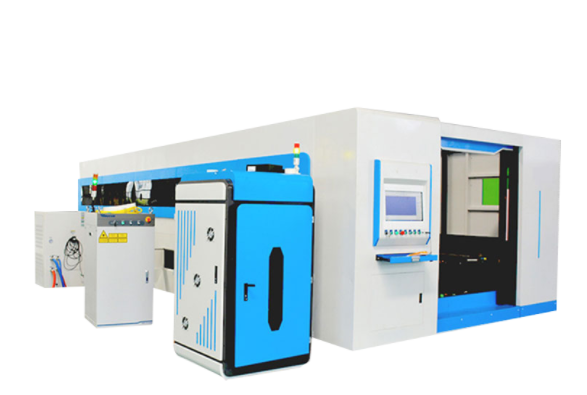 double drive closed metal laser cutter for sale